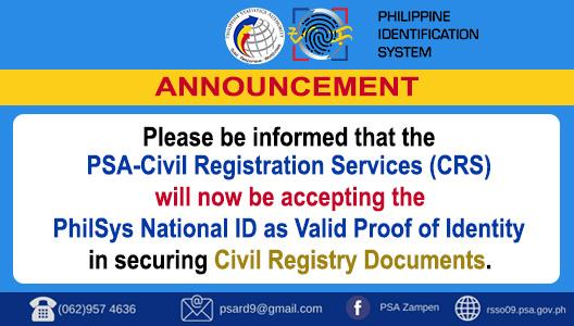 Announcement - PhilSys ID