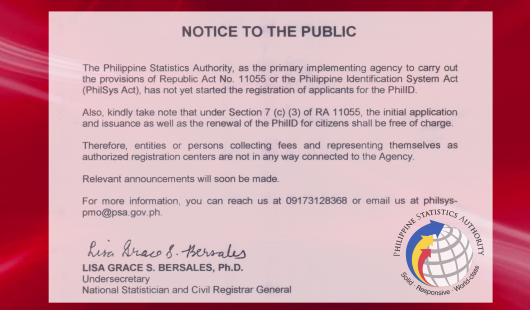 Notice to the Public - PhilSys